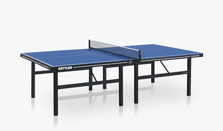 KETTLER's Spin 11 Indoor Table Tennis Table on a grey background.