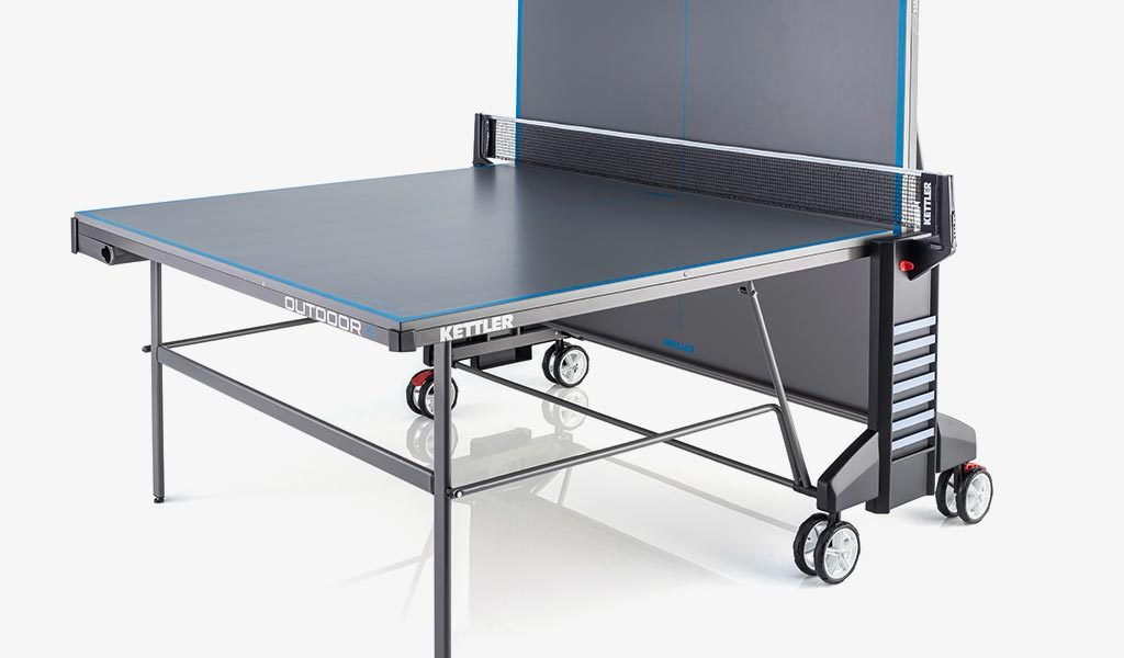 Single Player detail of KETTLER's Classic Outdoor 4 Table Tennis Table.