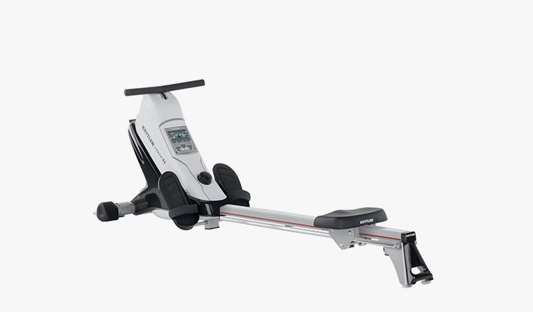 The Coach M Rowing Machine from KETTLER's fitness range on a grey background.