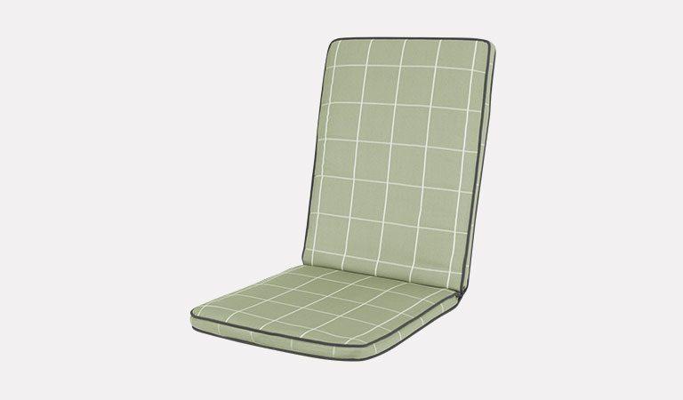 Cortona Cushion on a grey background.