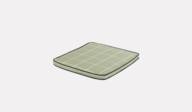 Cortona Seat Pad on a grey background.