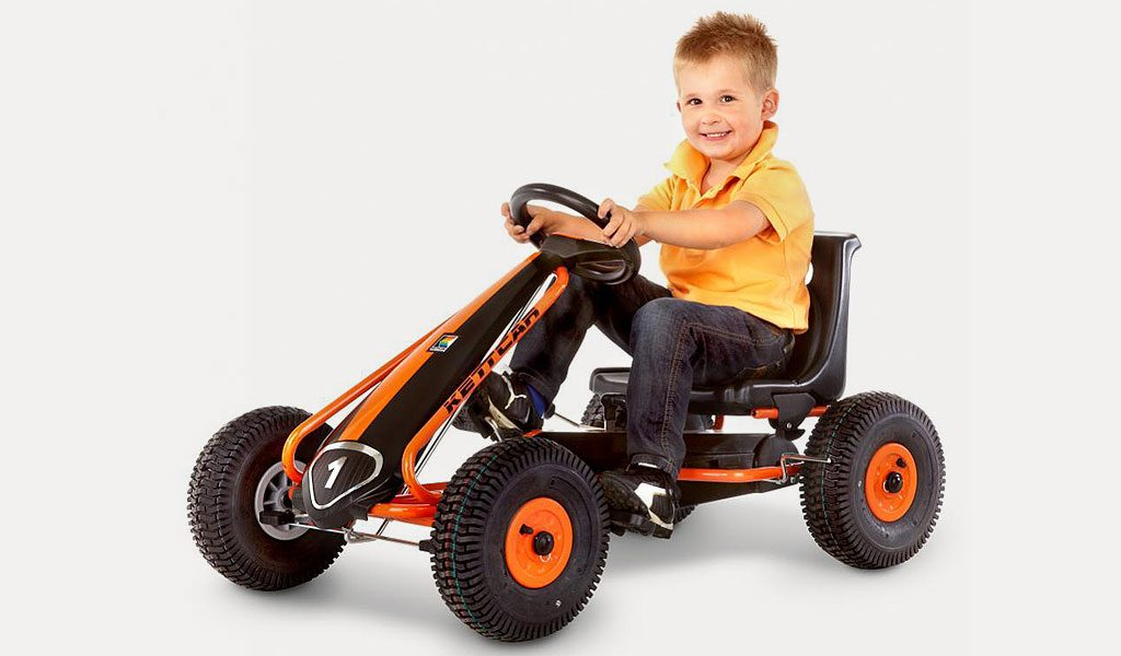 Kettler Suzuka pedal go kart in with boy
