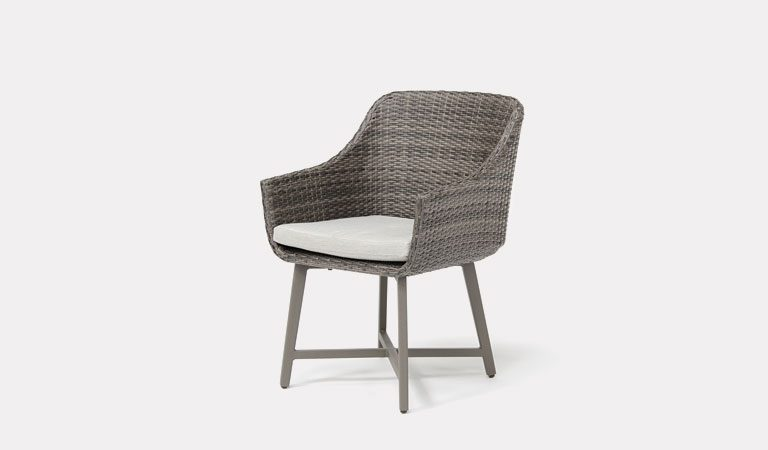 The LaMode Dining Chair from KETTLER's Garden furniture range on a grey background.