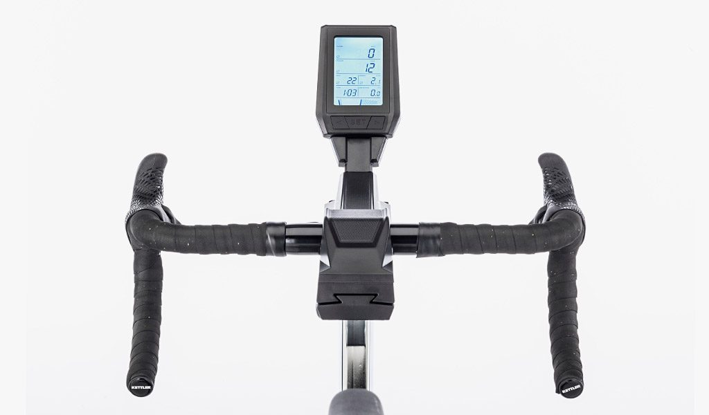 Display of the Racer 9 Indoor Training Bike from KETTLER's Fitness range.