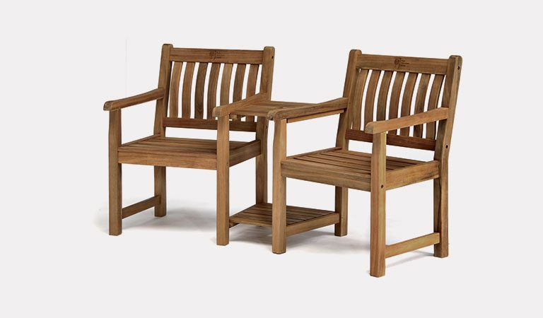 RHS Chelsea Companion Set from the RHS by KETTLER garden furniture range on a grey background.