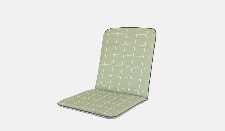 Siena/Savita Chair Cushion on a grey background.