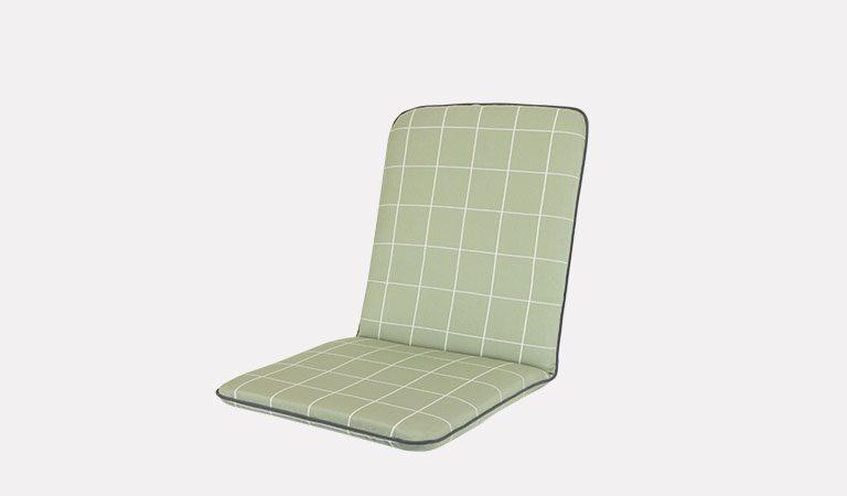 Siena/Savita Chair Cushion on a grey background.