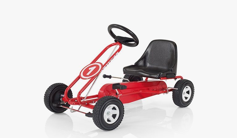 The Spa Kettcar Go-Kart from KETTLER's Toy range on a grey background.
