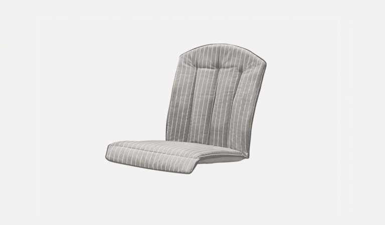 Venezia Chair Cushion on a grey background.