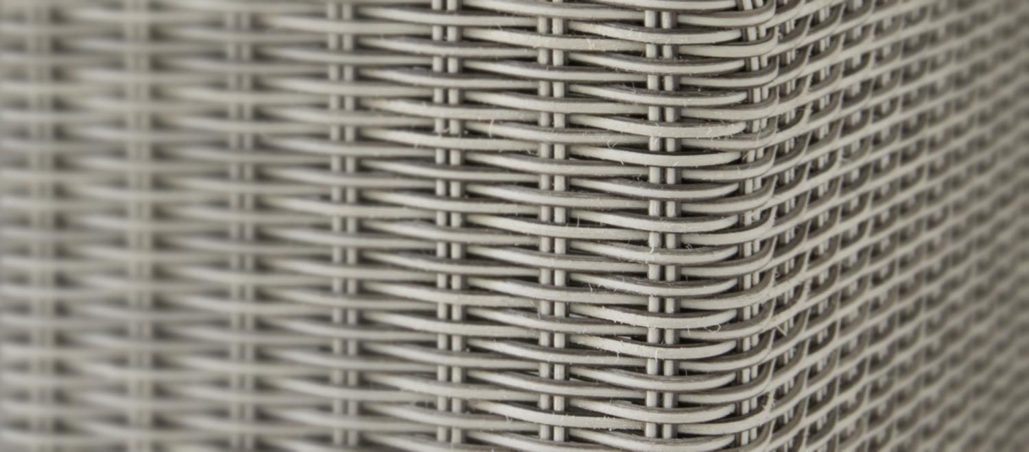 Wicker Close up in white wash