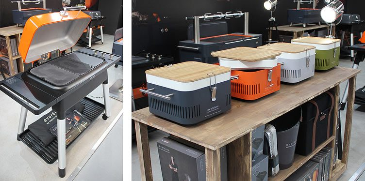 everdure barbecues presented on the Spring Fair 2017 exhibition stand.