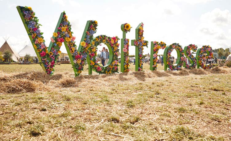 Waitrose Festival letters made from flowers