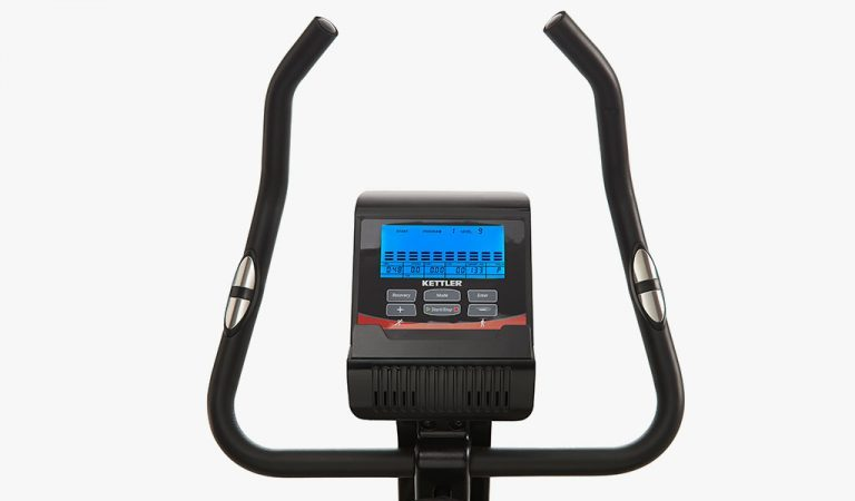 Console detail of the Picos Exercise Bike from KETTLER's Fitness range.