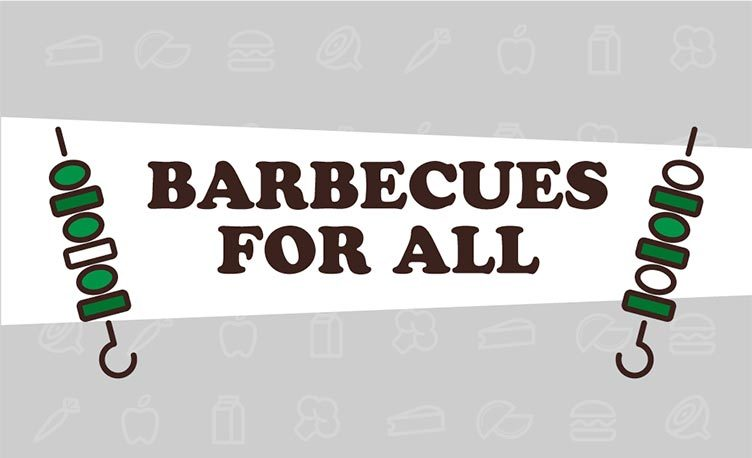 Logo for the barbecues for all diets blog post on a grey background.