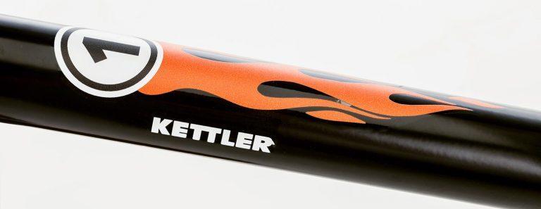 "Detail of Kettler's Speedy 10"" Rocket balance bike."