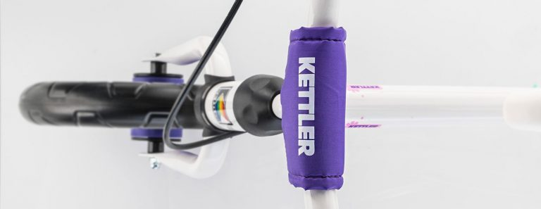 "Handlebar detail of Kettler's Speedy 12.5"" Pablo Balance Bike."