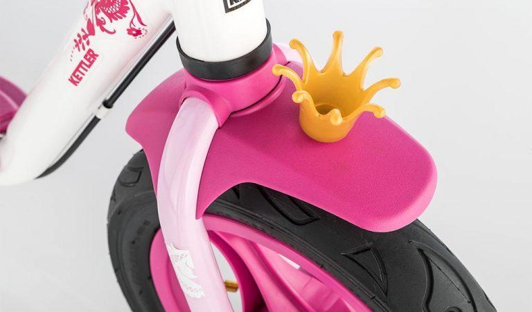 """Crown detail of Detail of Kettler's Spirit Air 12.5"""" Princess balance bike"""