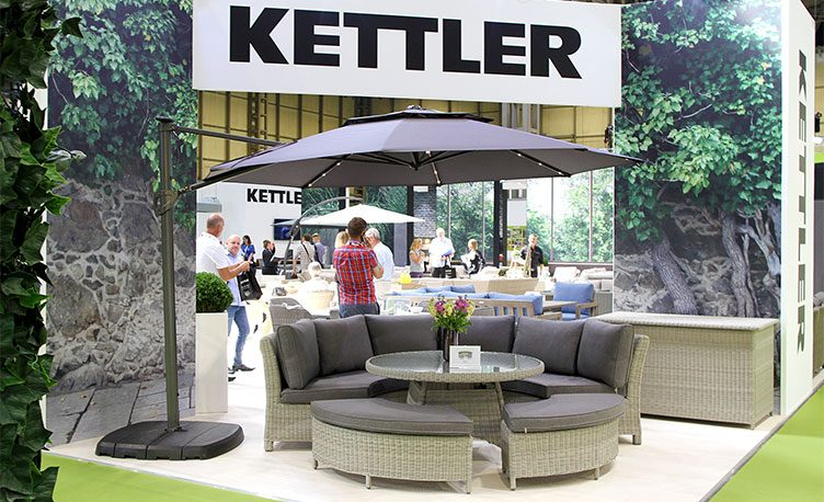 Kettler displays 2019 garden furniture at Solex 2018.
