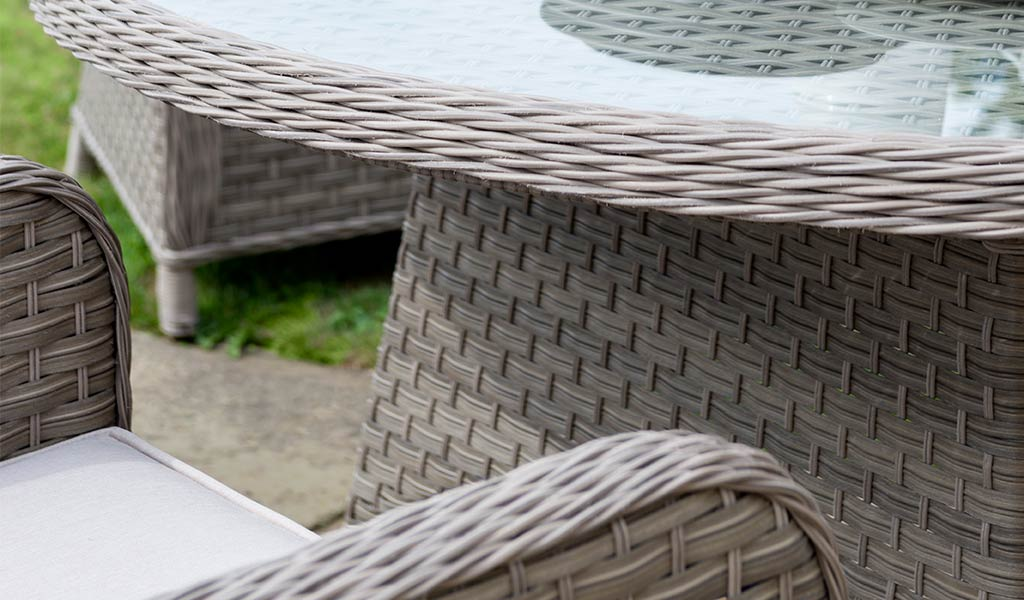 Detail of the Charlbury Round Garden Dining Set