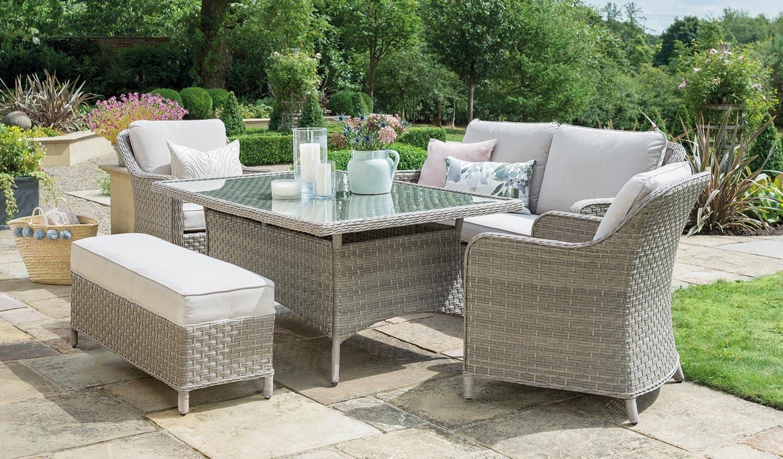Charlbury Dining Sofa Set - Casual Dining Garden Furniture