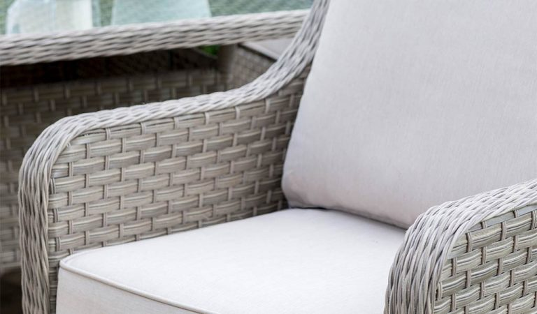 Lounge Chair detail of the Charlbury Dining Sofa Set