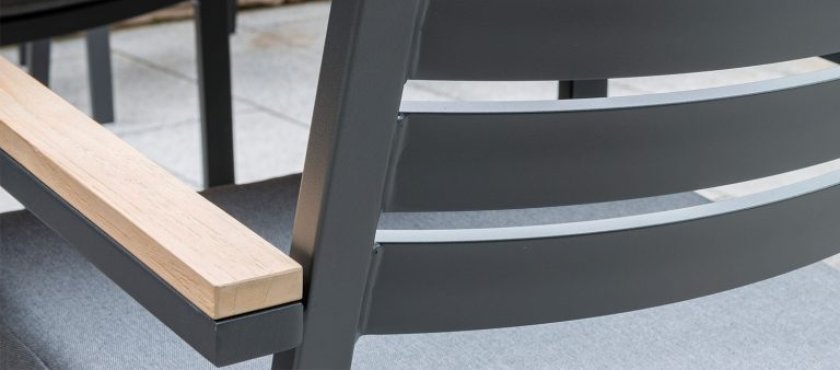 Detail of the Elba Dining Chair.