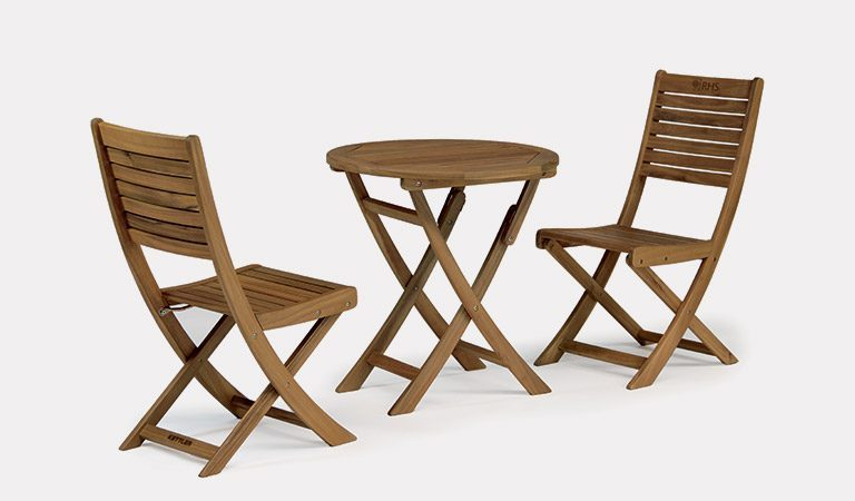 The RHS by Kettler RHS Chelsea Bistro Set on a grey background.