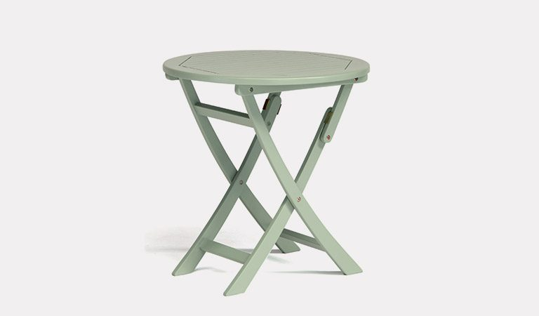 The RHS Rosemoor Bistro Table from the RHS by Kettler range on a grey background.