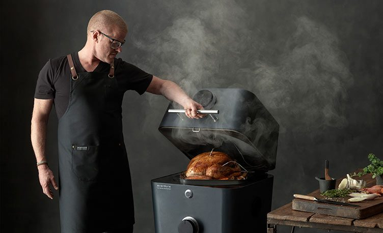 Heston cooking turkey on 4K Everdure BBQ