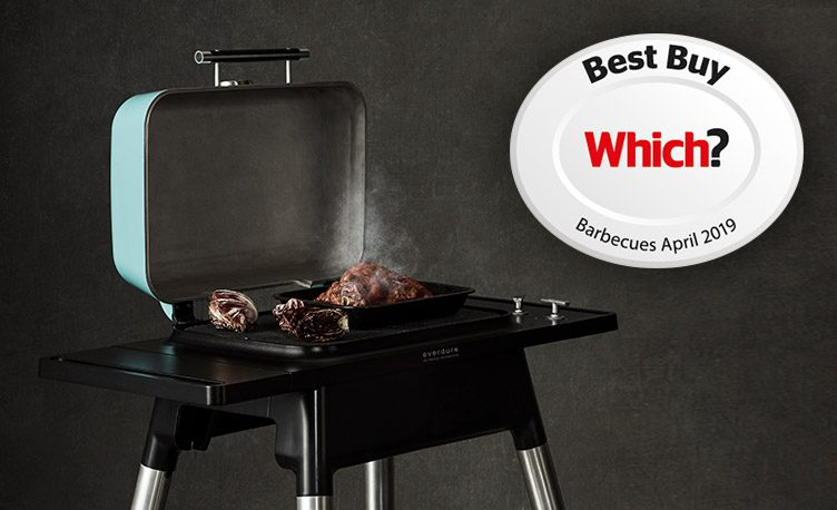 Mint Force 2 Burner Gas BBQ with the Which? Best Buy Barbecues April 2019 logo on a grey background.