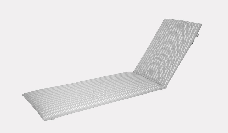 Henley Sunlounger Cushion French Grey Stripe Plain Kettler Official Site