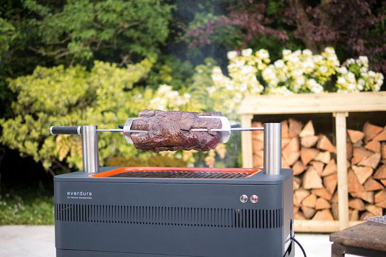 A BBQ in a garden