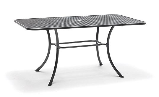 dc5ace8d5faa 160x90cm Rectangular Mesh Table Siena from KETTLER s Metal Garden Furniture  range on a white background