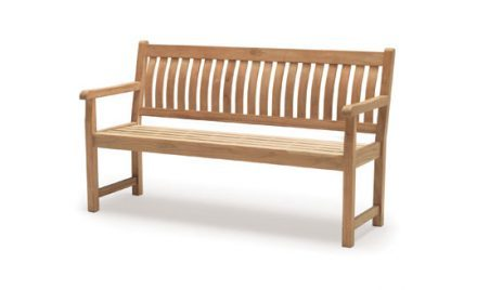 RHS Wisley 5ft Bench from KETTLER's RHS Wood range on a white background