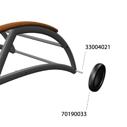 Wheel Shaft Axel For Alexa Sunlounger X1 Kettler