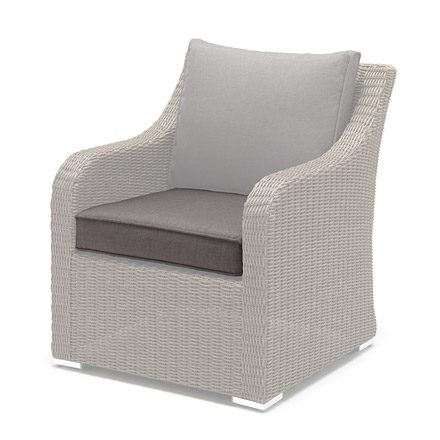 Seat Cushion Cover for Madrid Chair on a white background