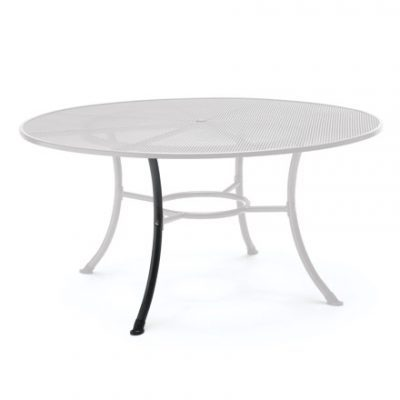 Leg of the 150cm Round mesh table on a white backround.