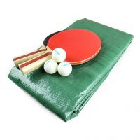 Table Tennis accesories on a white background
