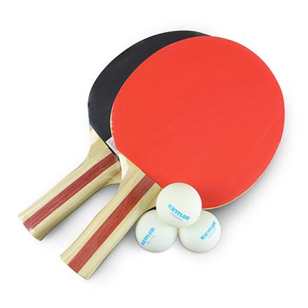 Indoor table tennis accesxsories set on a white background
