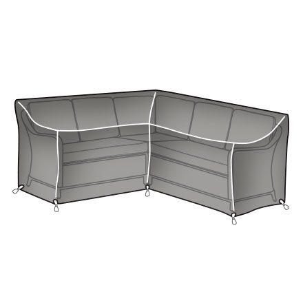 Protective Cover over a Charlbury Mini Corner Sofa on a white background.